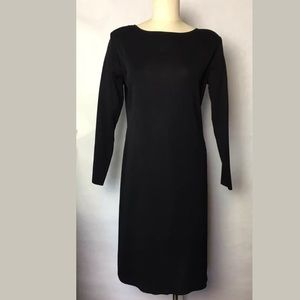Exclusively Misook Black Knit Dress M Flawed
